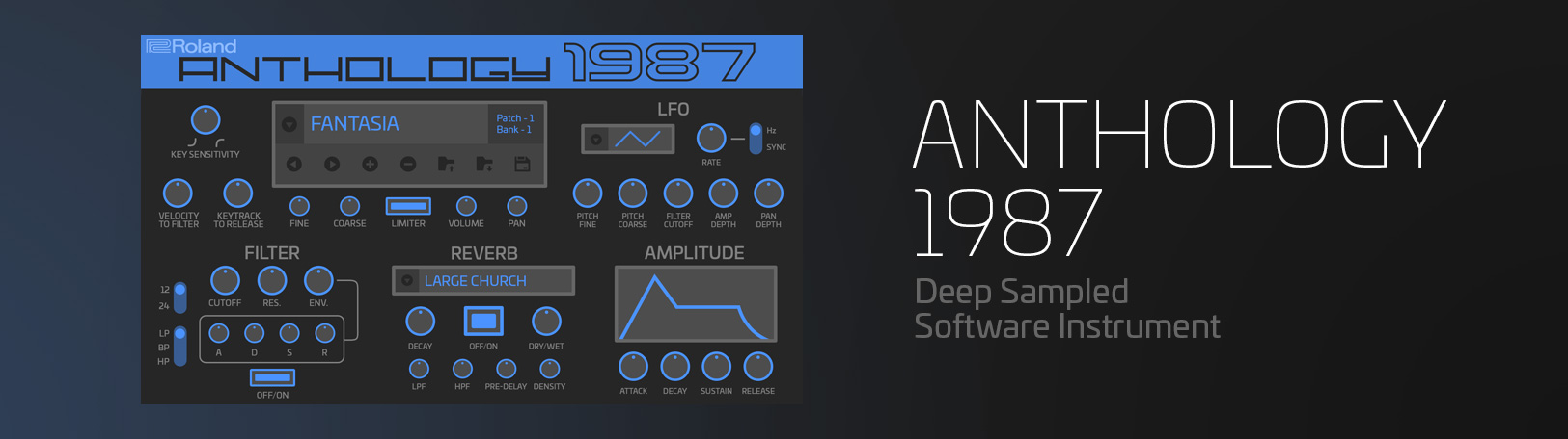 Anthology 1987: Virtual Synth Software - VST Plugin | Roland
