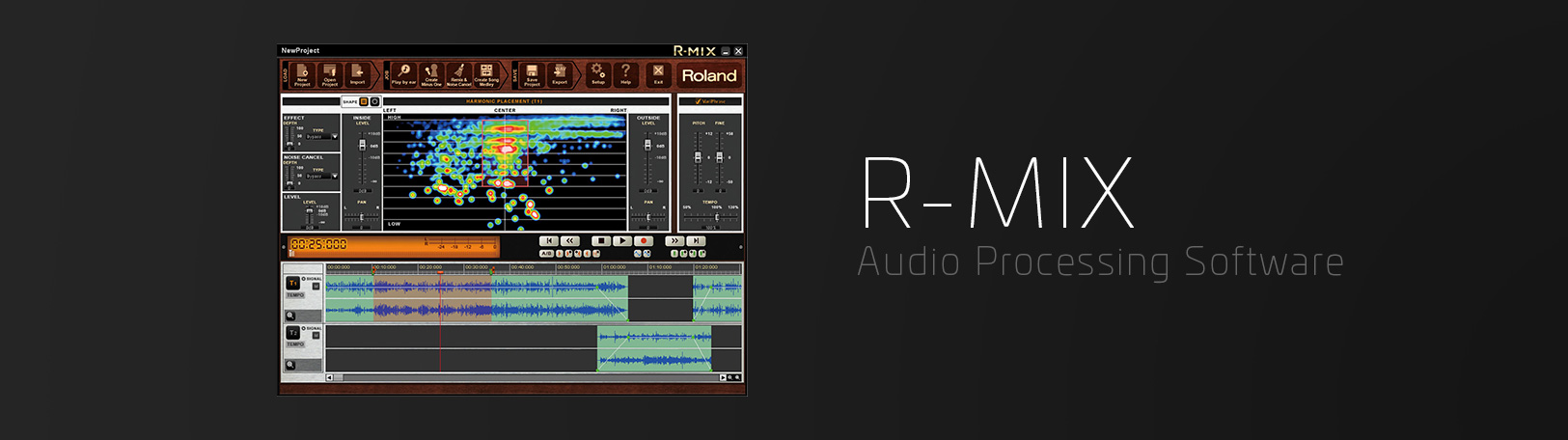 R-Mix: Audio Processing Software - Visual Audio Manipulation