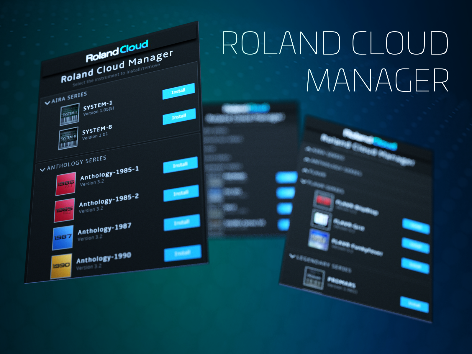 Roland Cloud Manager makes it easy to make music