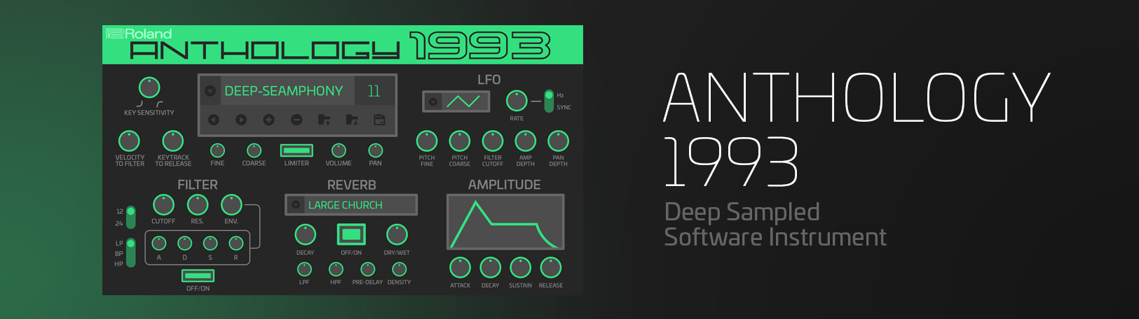 Anthology 1993: Virtual Synth Software - VST Plugin | Roland