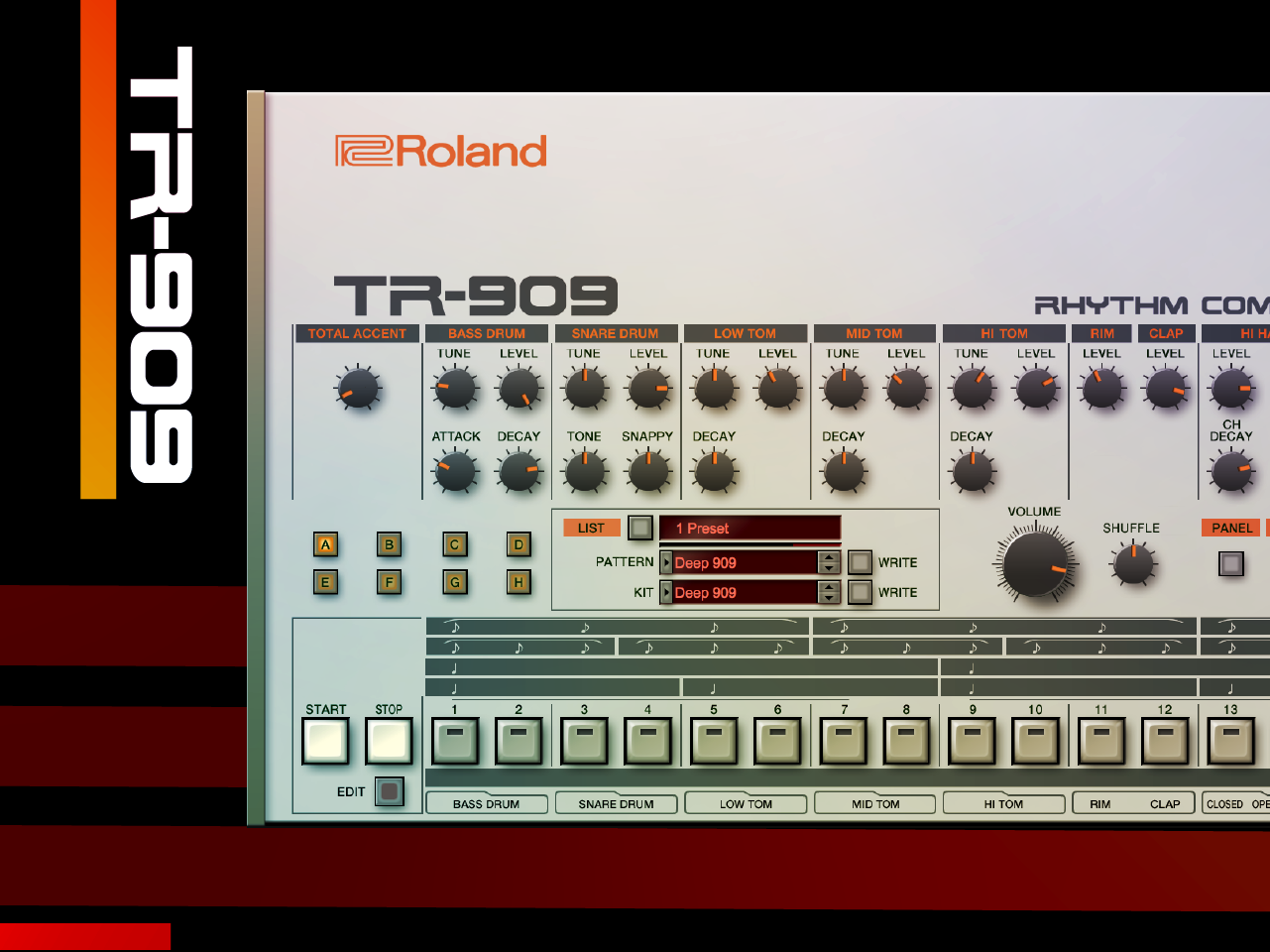 TR-909 Software Rhythm Composer